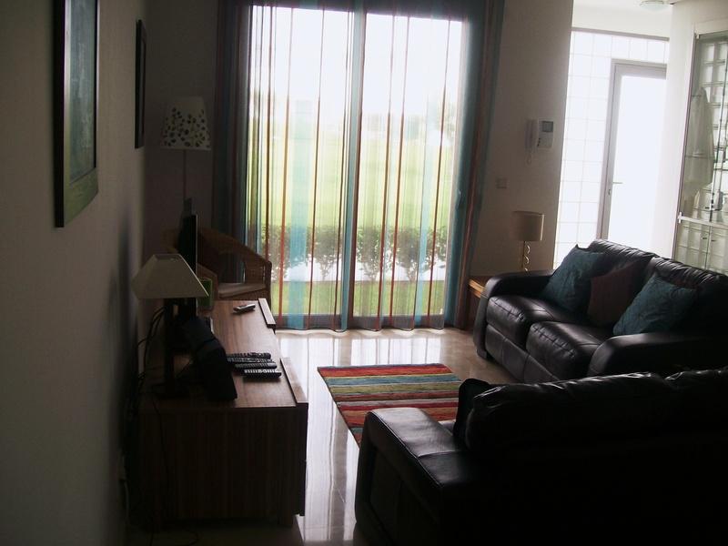 View from living room to door to Garden